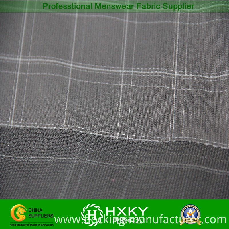 Polyester with Spandex Blend Yarn Dyed Fabric for Men's Jacket or Shirt