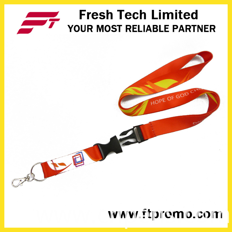 Advertised Card Holder Neck Polyester Lanyard with Logo Custom