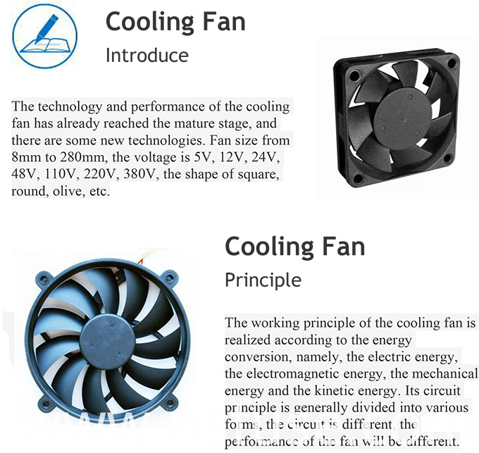 Best Selling High Quality 18V Cooling Fan for Home Appliances