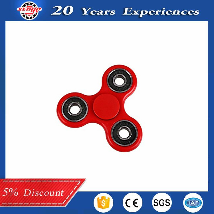 Red Hand Spinner Fidget Toy EDC High Speed Stainless Steel Bearing