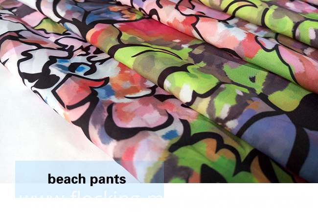 Small MOQ New Design Printed Beachwear/ Casual Garment Fabric