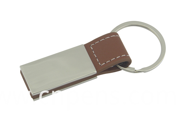 Multi Function Pull out Leather Keyring with Custom Logo (F3026)
