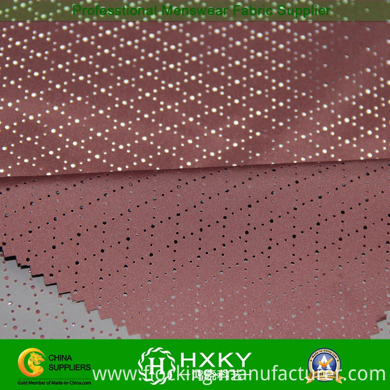 Polyester Coated Mesh Fabric with Diamond Pattern for Outerwear