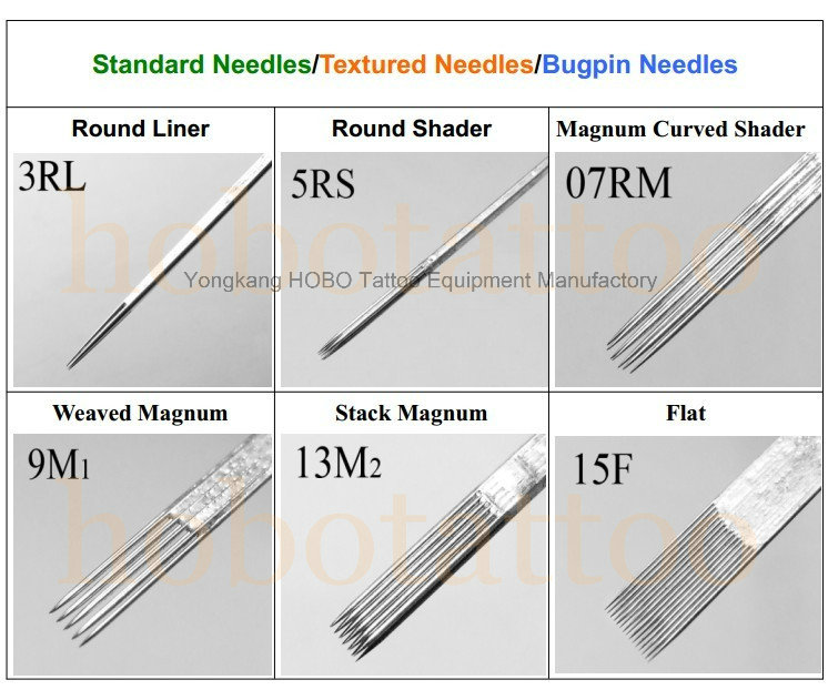 Cheap Stack Standard Quality Magnum Curved Shader Disposable Tattoo Needles