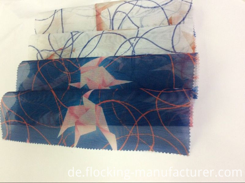 Toothpick-Stripe Polyester Organza Printed Garment Fabric