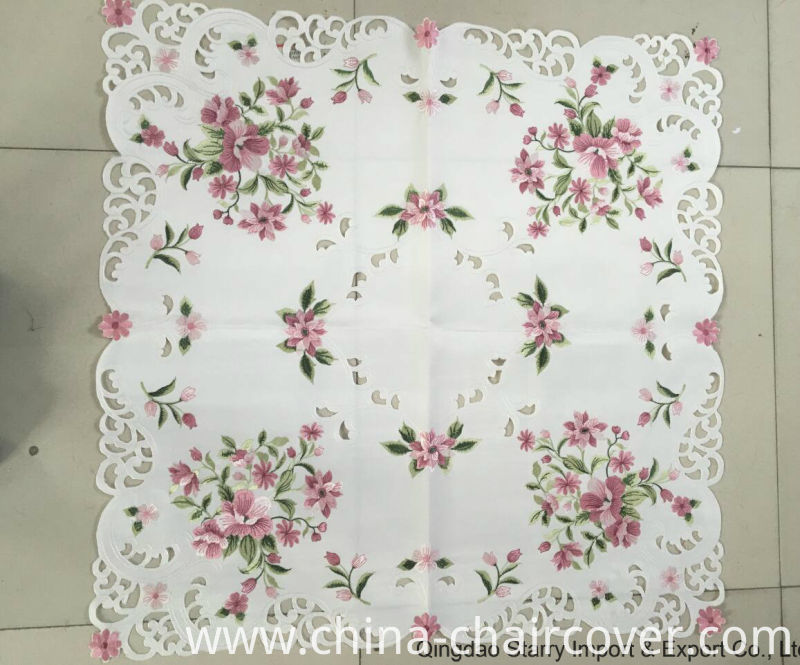 Machinery Embroidery and Handmade Cutwork Easter Day Hotel Home Outdoor Table Cover 2016