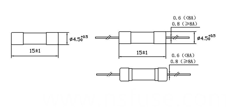 Micro Fuse Glass Tube Fast-Acting UR Certificate