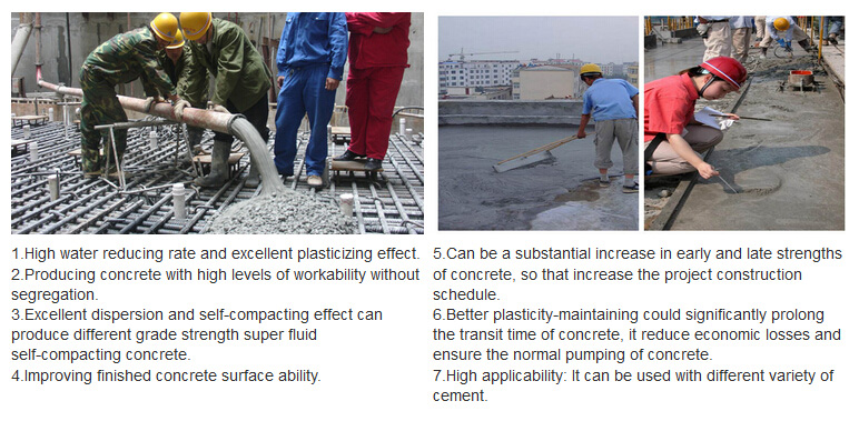 Concrete Water Reducing Admixture Polycarboxylate Ether Superplasticizer