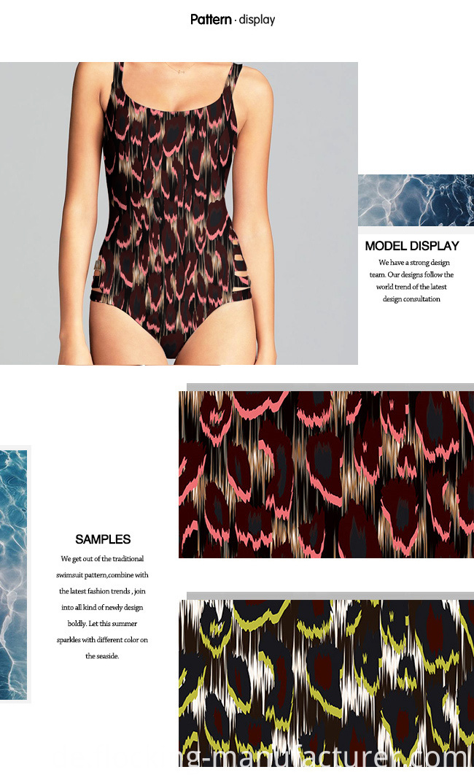 Printed Polyester Spandex Swinwear Fabric