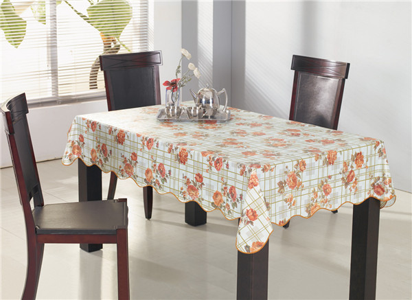 Cheap PVC Fabric Printed Tablecloth Waterproof Oilproof Home Use