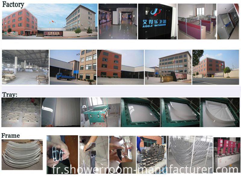 Fabric Glass High Tray 120*80cm Shower Enclosure (ADL-8050)