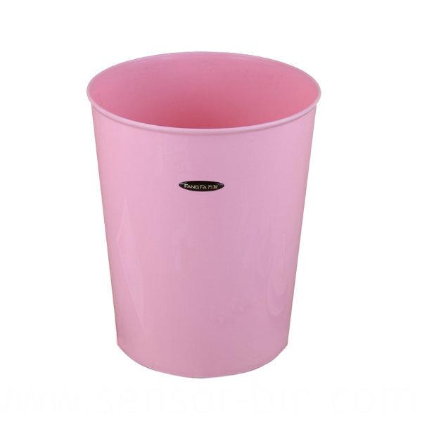 Pure Color Plastic Round Waste Bin (FF-5229)
