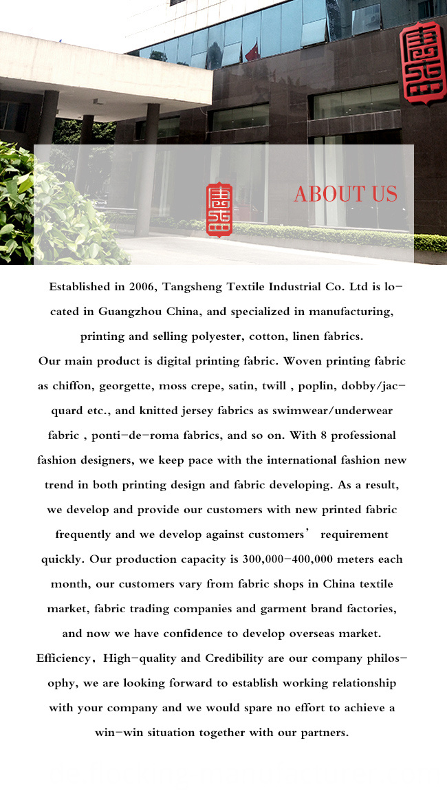 Flower Printing Satin Garment Fabric/ Home Textile Fabric