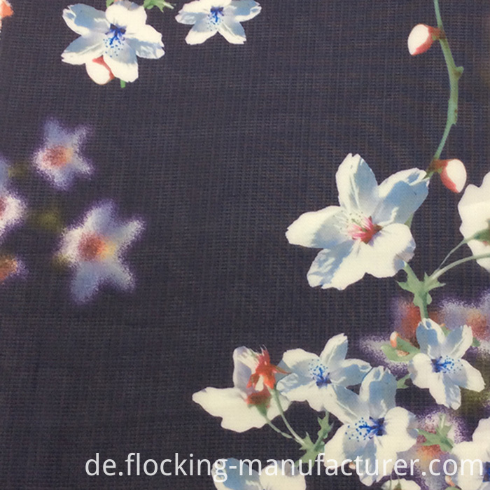 Flower Printing Fashion Polyester Garment Fabric