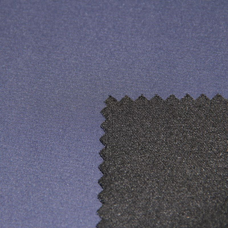Woven Stripe Pongee Fabric Composite with Knitted for Down Coat