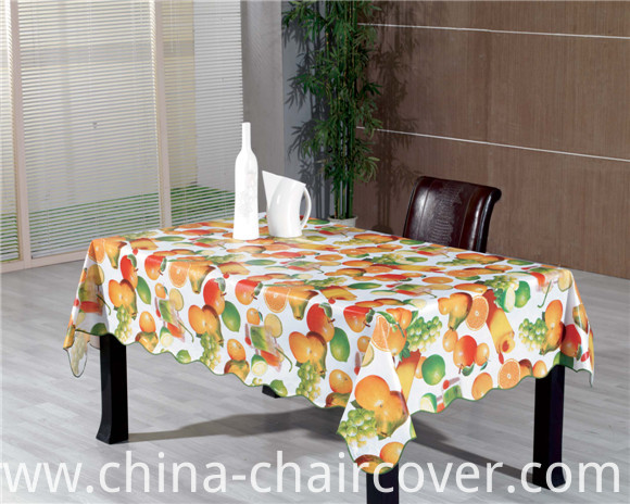 Colorful PVC Printed Tablecloth with Vegetable and Fruit Design