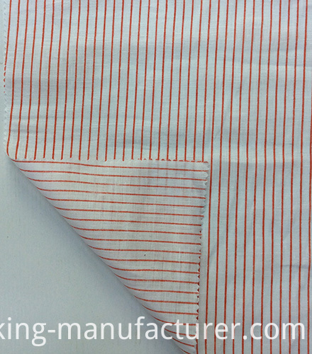 100% Linen Stripes Printed Fabric for Garment& Home Textiles