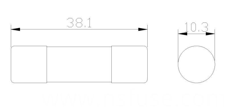 Ceramic Tube Fuse Time-Lag 10.3 X 38 mm