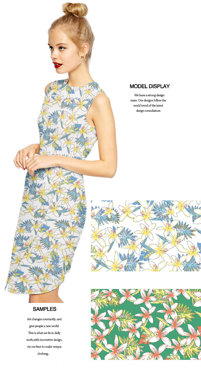 Printed Polyester Twill Fabric for Dress/ Top/ Skirt/ Home Textile