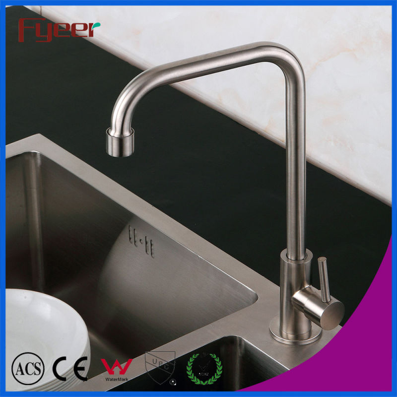 Fyeer Cheap Cold Only 304 Stainless Steel Kitchen Tap
