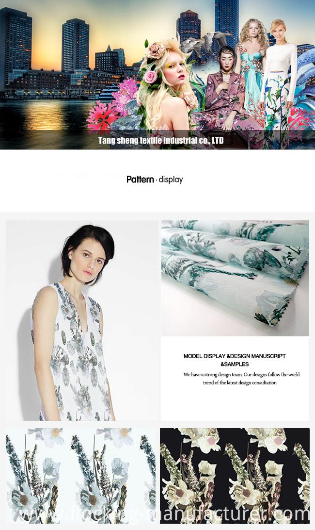 Fashion Organza Printed Garment Fabric for Summer Style