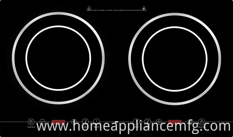 Good Selling Double Burners Induction Cooktop Model SM-DIC06