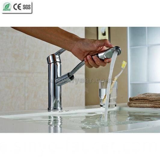 Pull out Brass Kitchen Sink Mixer Faucet (Q13003)