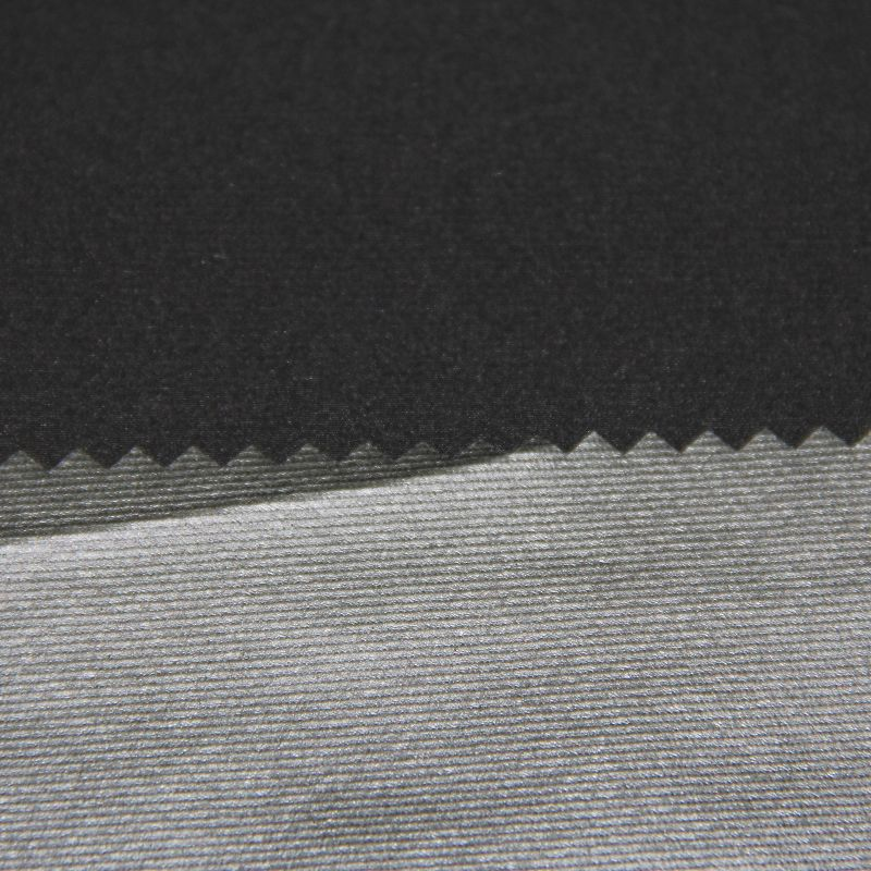 Polyester Striped 4 Way Spandex Coated Fabric for Woven Wearing