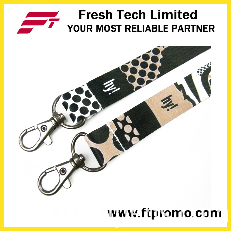 Classical Art Style Polyester Lanyard with Customized Logo