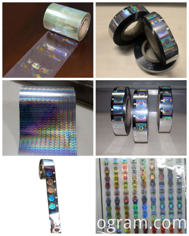 Silver Security Roll Hologram Hot Foil Stamping