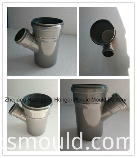 PP Skew Tee Pipe Fitting Mould for Drainage and Sewage Y-Shape