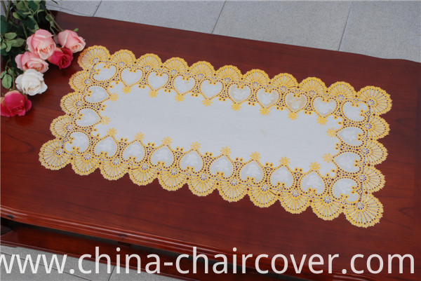 Hot Sale PVC Placemat with Lace Gold Decorative