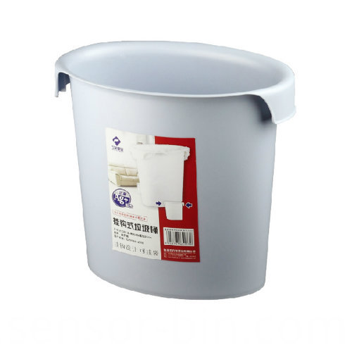 Oval Open Top Plastic Waste Bin with Hook (FF-5203)