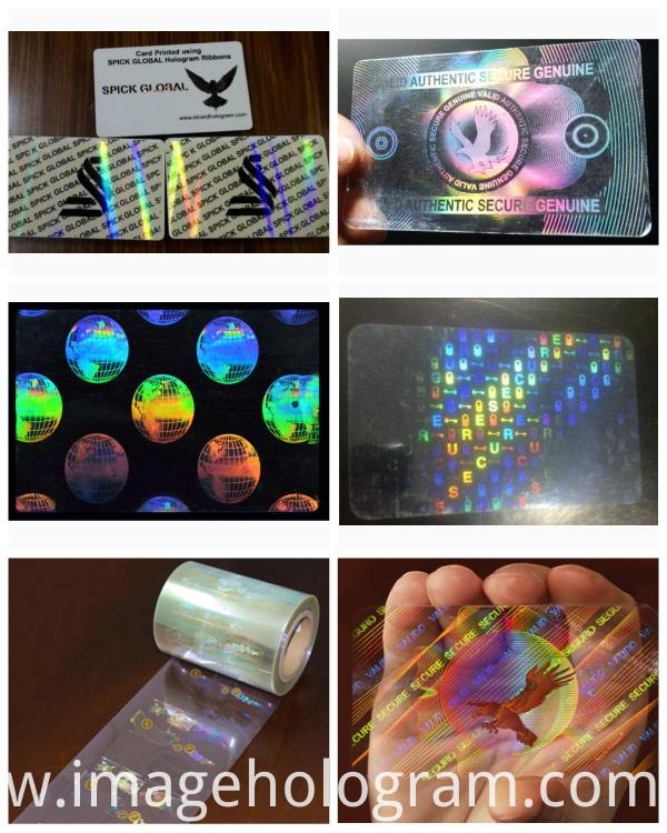 Transparent ID Card Overlay Hologram