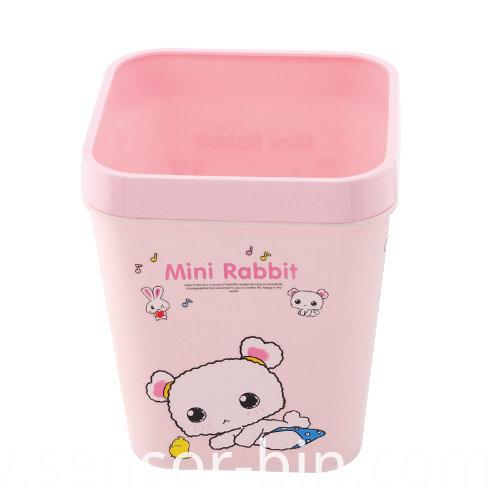 Mini Rabbit Colorful Plastic Waste Bin (FF-5256)