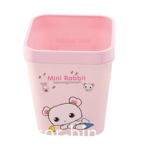 Mini Rabbit Colorful Plastic Waste Bin (FF-5256)