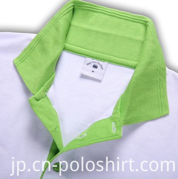 White and Green Color Combination Polo T Shirts