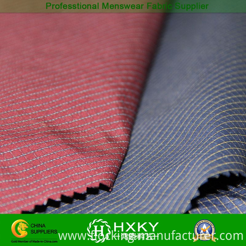 Ripstop Polyester Yarn Dyed Fabric for Menswear Lining or Shirt