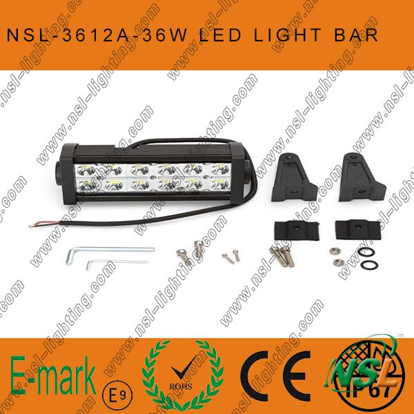 13.5'' 36W 12LED Offroad Light Bars for Truck Boat Hight Brighness IP67 LED Work Light Bar