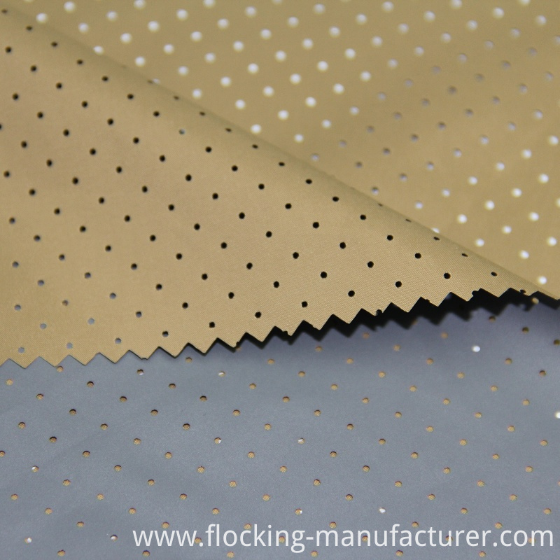 Polyester 30d Pongee Fabric with Coating and Mesh Finishing