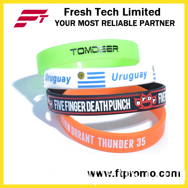 Wholesale Pure Color Silicone Wristband With Your Logo