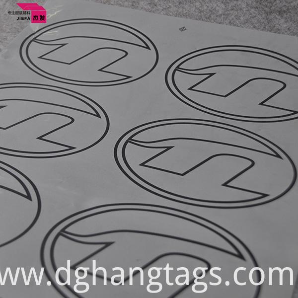 Cute Design Multi Color Heat Transfer Print Nice Pattern Care Instruction Label