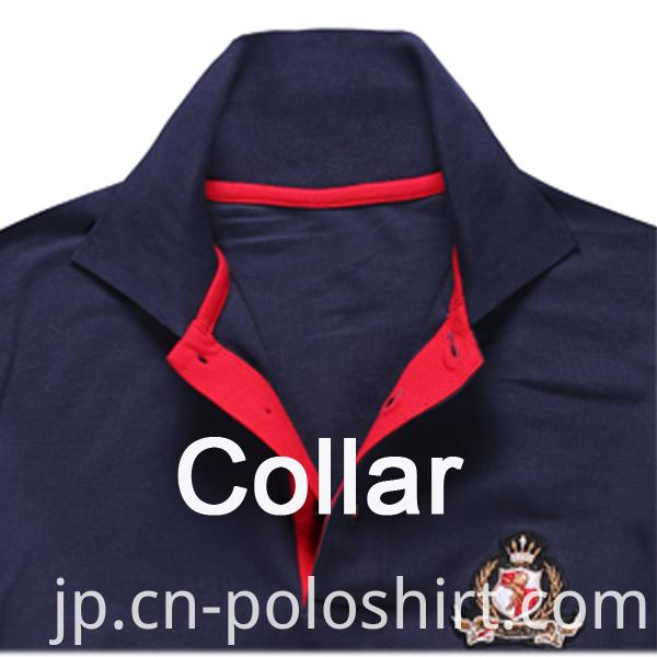 Black Men's Contrast Color Polo Shirts