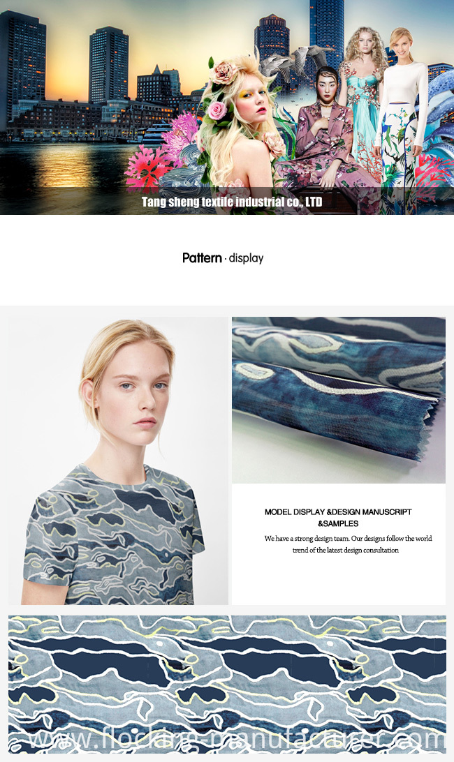 Cloud Design Digital Printed Garment Organza Fabric