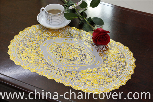 30*46cm Lace Gold PVC Tablemat Factory Wholesale