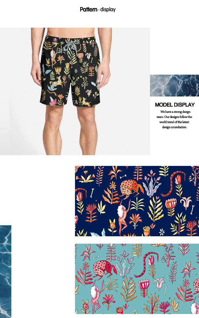 Floral Design Printed Brushed Beach Shorts Fabric/ Casual Garment Fabric