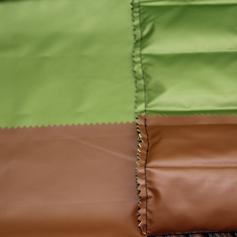 Double Layer Downproof Fabric with PU Coat for Down Jacket