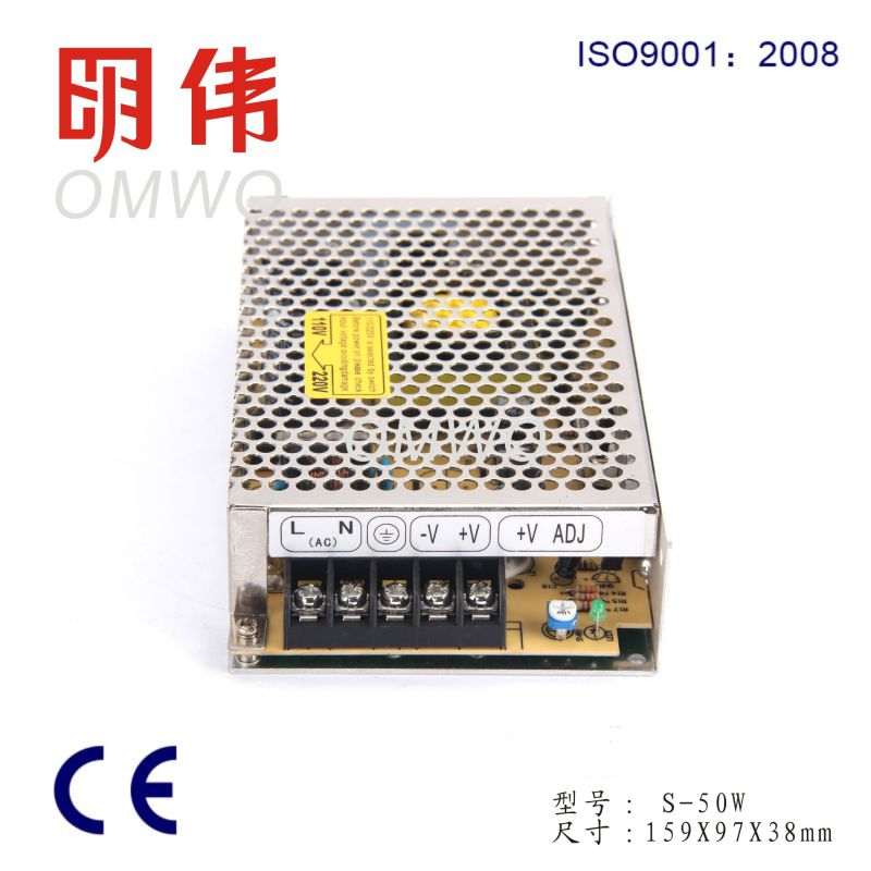 LED Driver 1A 48V 50W S-50 Switching Power Supply with Ce RoHS