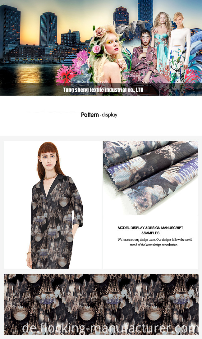 Digital Printed Organza Fabric for Garment Home Textile Dress Lining