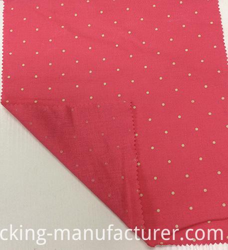 Linen/Viscose Polka Printed Garment Fabric, Home Textiles Fabric